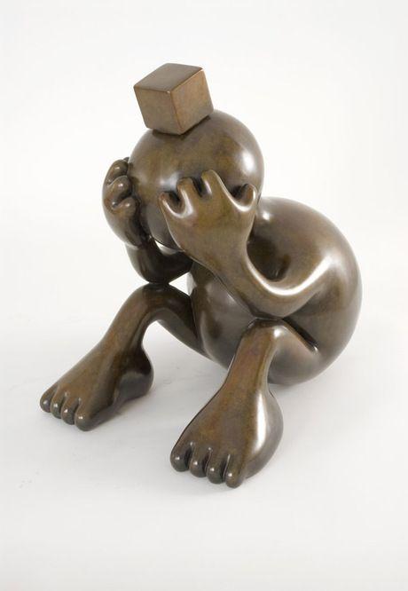 Sad Sphere - 2007, Bronze, Tom Otterness.