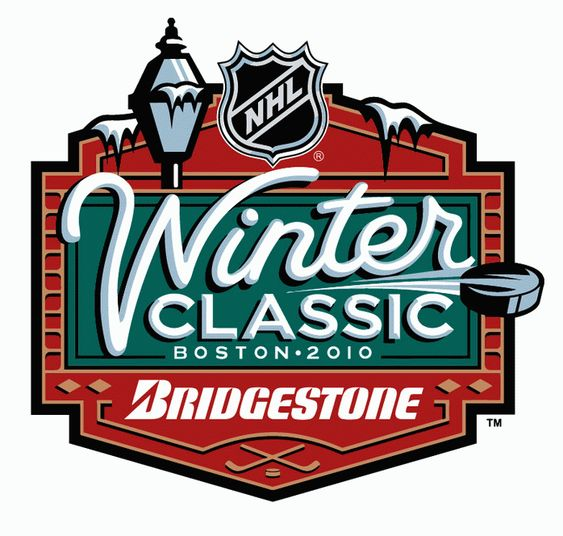 NHL Winter Classic Primary Logo (2010) - 2010 NHL Winter Classic Logo - Boston Bruins hosted the Philadelphia Flyers at Fenway Park in Boston, Massachusetts on January 1st 2010 - Boston defeated Philadelphia 2-1 in OT.