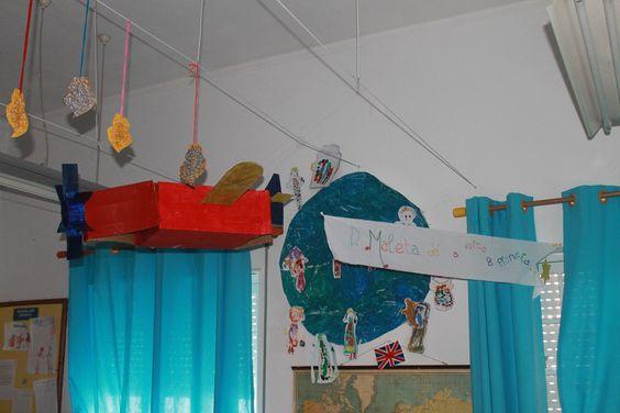 Avião da Dona Maleta: reutilização de cartão de caixotes