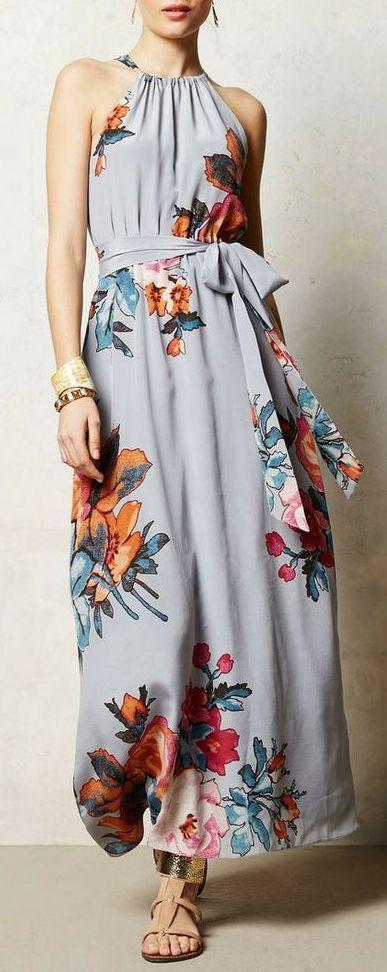 Anthropologie floral maxi dress #anthrofave: