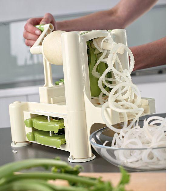Lurch Spirali 10203 Vegetable Spiralizer Green/Cream: Amazon.co.uk: Kitchen & Home
