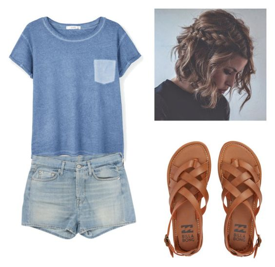 """""""Week days."""" by you-are-pretty-amazing ❤ liked on Polyvore featuring MANGO, 7 For All Mankind and Billabong"""