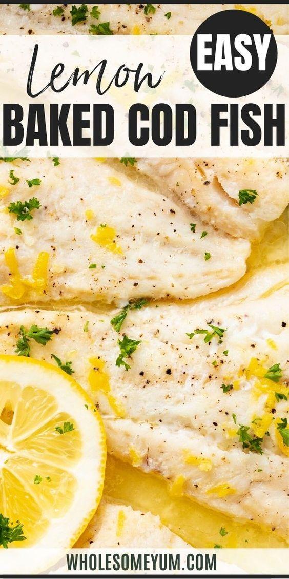 Lemon Baked Cod Fish Recipe