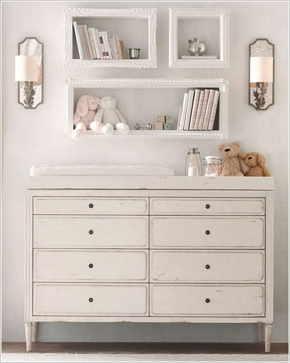 Shabby Chic Baby Room Shelves