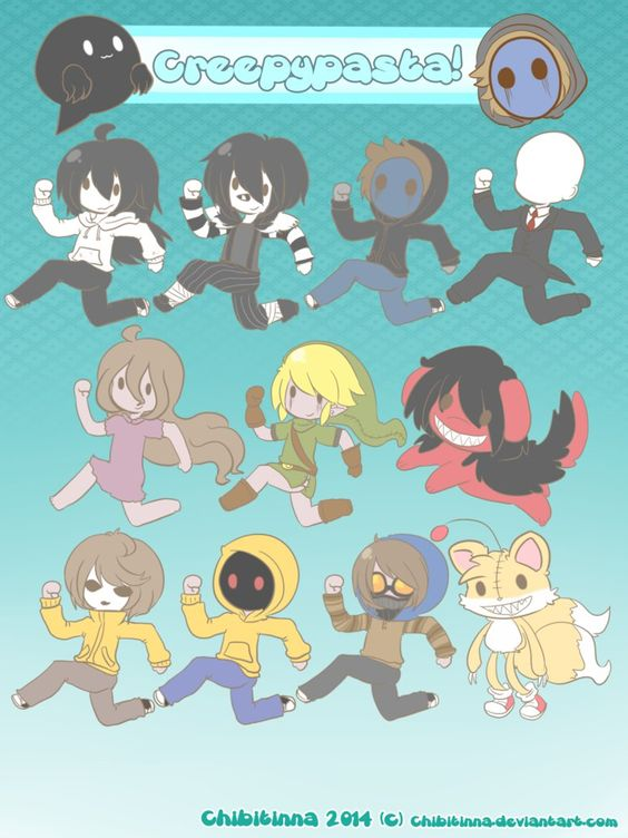 Creepypasta Chibis by Chibitinna on deviantART
