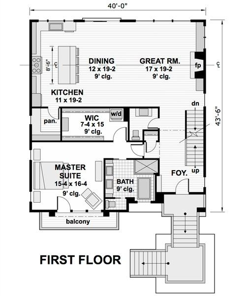 Two Story 5 Bedroom Modern Pacific Southwest Home Floor Plan Floor Plans House Floor Plans Bedroom House Plans Home floor plans modern