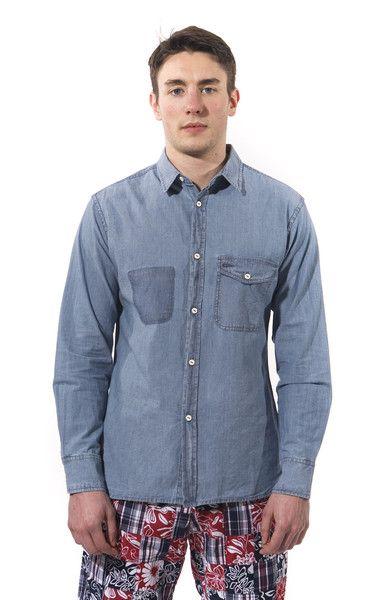 Universal Works SS13 Collection. Indigo Chambray Shirt. #shopwittmore ShopWittmore.com