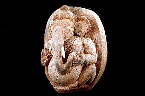 Coconut Husk Ganesh Sculpture