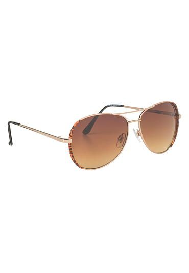 animal print rimmed aviator sunglasses (original price, $12.5) available at #Maurices