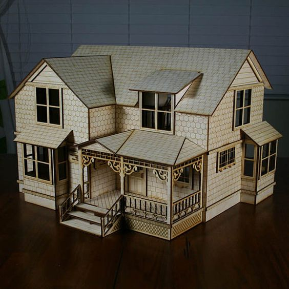 Haus dollhouses and house on pinterest for Victorian kit homes