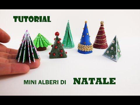 Albero Di Natale Youtube.7 Diy Tutorial Come Fare Mini Alberi Di Natale Youtube Christmas Ornaments Novelty Christmas Holiday Decor