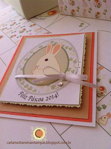 Cartão Páscoa (Frente) Contato: carlamedianeira@gmail.com Carla Medianeira Silva Nogueira Artes, ilustrações, papelaria personalizada