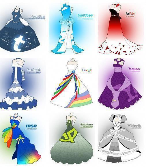 Interesting Social Media Dress Designs Social Media Drawings Social Media Art Character Design