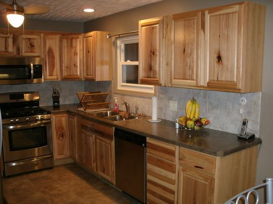 Hickory cabinets Pictures of and Appliances on Pinterest