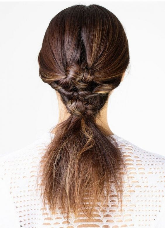 Get twice braided twisted hairstyle for your long or mid-length hairs. Twice-braided Twisted hairstyles look very nice when you are in casual dress.
