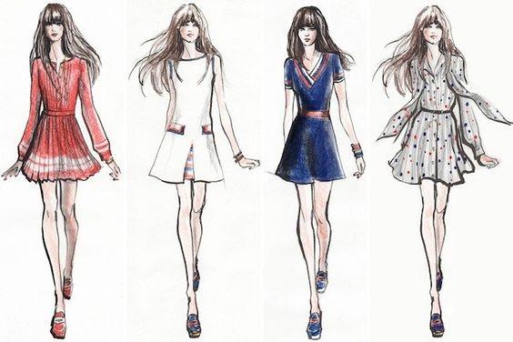 zooey-deschanel-diseñadora-tommy-hilfiger-2014-bocetos