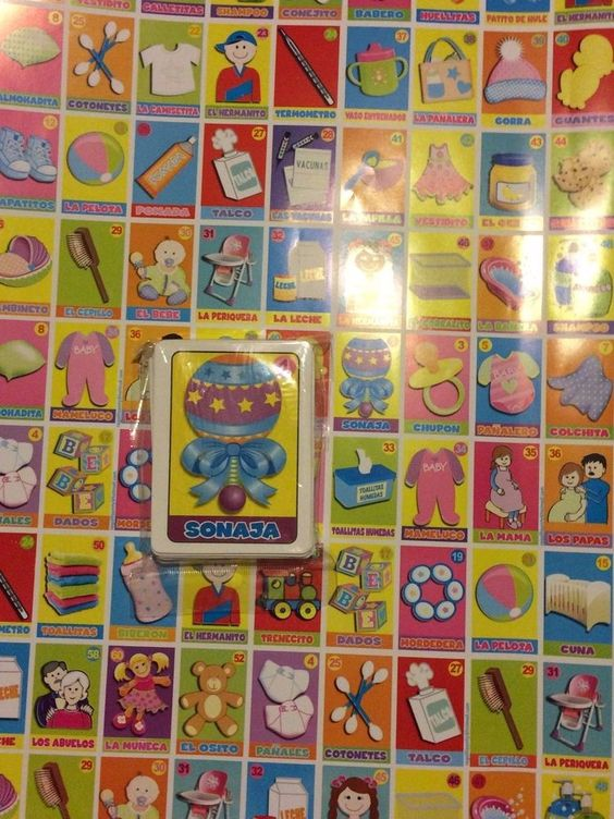 New 5 PC Baby Shower Mexican Loteria Glossy Paper Rolls to Make Boards with Deck