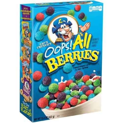 Cap N Crunch Cereal Oops All Berries 15 4 Oz All Berries Berry Cereal Crunch Berries