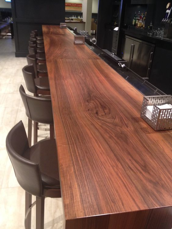 Modern Bar Top Design Used In A Crown Plaza Hotel With Our Circassian  Walnut Slab | Our Work | Pinterest | Walnut Slab