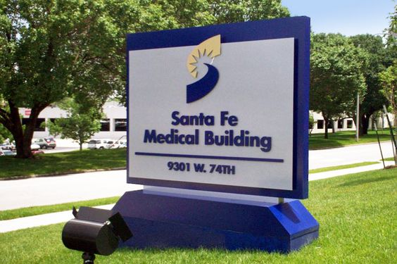 Shawnee Mission Medical Center Monument Sign.  Shawnee Mission, KS