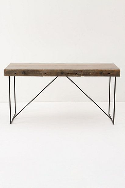 This Anthropologie desk looks like my dining room table that I got from Habitat ReStore. It's super cute and a fraction of the price. Oh but, I love Anthro.