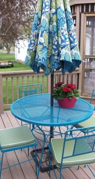 39 Best Ideas For Spray Painted Patio Furniture Yards Furniture