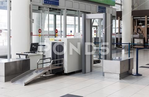 Airport Security Check Point With Metal Detector Stock Photos Ad Check Point Airport Security Airport Security Check Airport Security Textured Walls