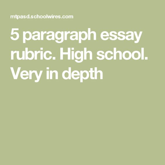How to write a high school application 5 paragraph essay