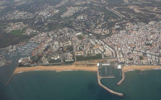 Vista aérea de Vilamoura e Quarteira