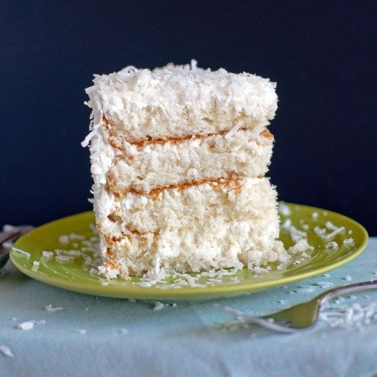Coconut Cake With Sour Cream Whipped Icing Sour Cream Cake Sour Cream Icing Sour Cream Frosting