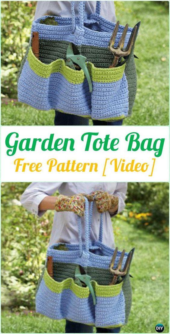 Crochet Garden Tote Bag Free Pattern [Video] - Crochet Handbag Free Patterns Instructions