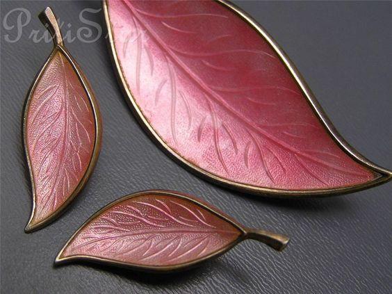 Vintage Sterling Silver Guilloche Enamel Pin Brooch Earring Denmark BJORKLAND