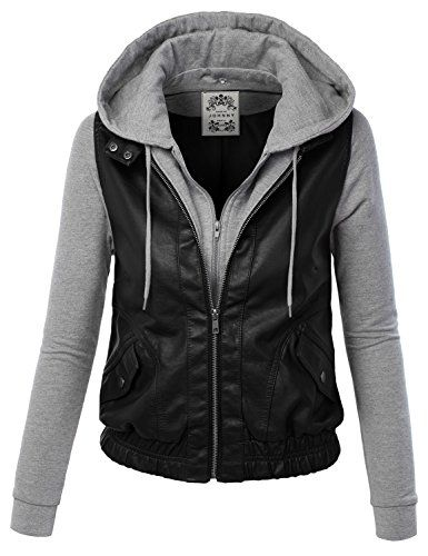 Leather and Hoodie Combo from Amazon http://www.amazon.com/Womens ...