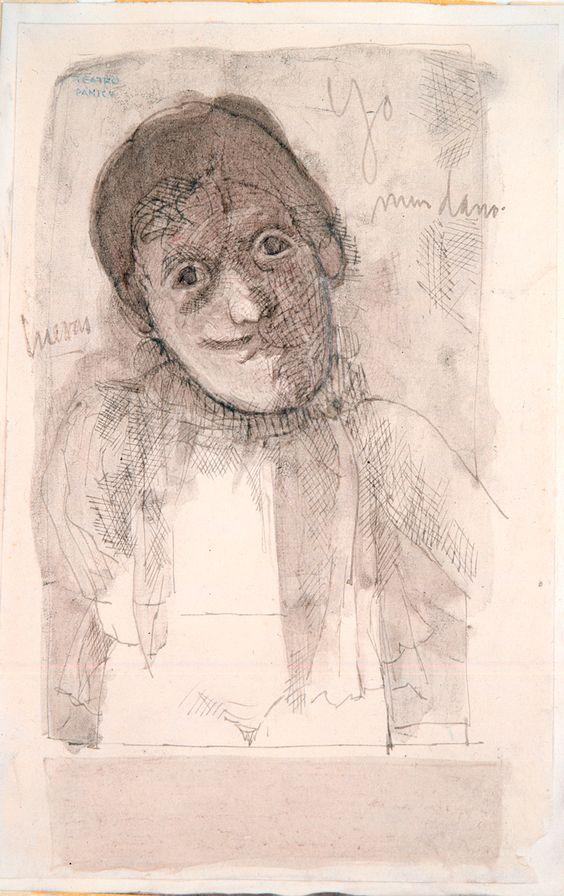 José Luis Cuevas - Personajes del teatro Pánico No.1, 1963 | Colección de Arte del Banco de la República
