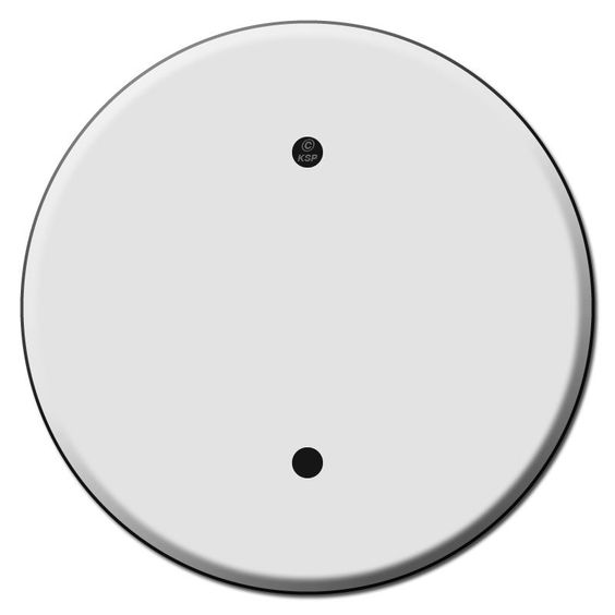 Round Ceiling Outlet Blank Switch Plate Covers for 3.25 Inch Boxes - Kyle Switch Plates