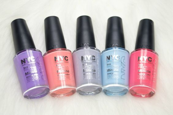 The NYC In a New York Minute Quick Dry Nail Polishes are one of my favourite highstreet nail polish formulas as they apply so smoothly and evenly and last really well on the nails.. what's more, they're only £1.79 each which is amazing. When I noticed that Superdrug had NYC on offer, I decided to add five new Spring appropriate shades to my collection.. The shades I chose were;Lavender Blossom which is a pretty yet bright purple,Peach Popsicles which is the perfect, pastel peach shade…