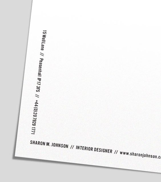 Personal letterhead - pink paper is super cute too - personal letterhead