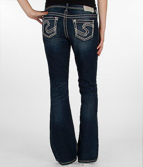 NEW Women&39s SILVER JEANS Mid Rise Suki Curvy Easy Boot Stretch
