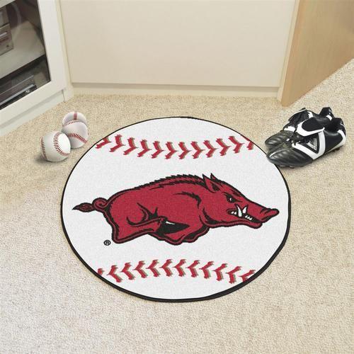 Arkansas Razorback Baseball Floor Rug Mat