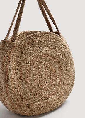 Bolso shopper yute Bolsos de Mujer | Bolso rafia, Bolsas