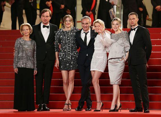 Kristen Stewart, Sigrid Bouaziz, Nora Von Waldstatten, Anders Danielsen Lie, Lars Eidinger and Olivier Assayas in Cannes - Personal Shopper Premiere