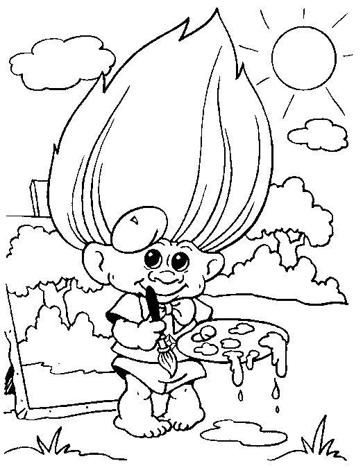 Troll Coloring Pages | Troll Coloring Pages For Kids. Print and ...