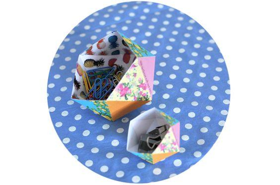 adoro FARM - faça você mesma: caixinha origami