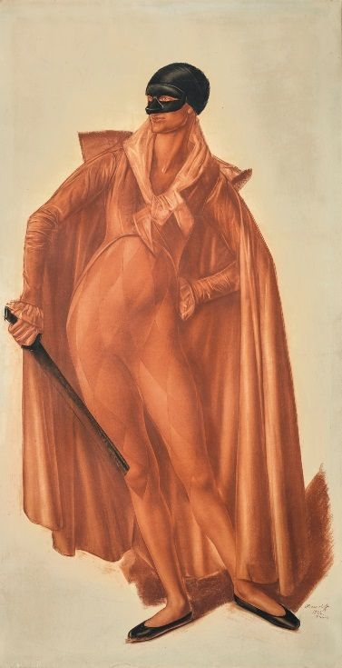 """""""Harlequin"""" by Alexander Yakovlev, 1922"""