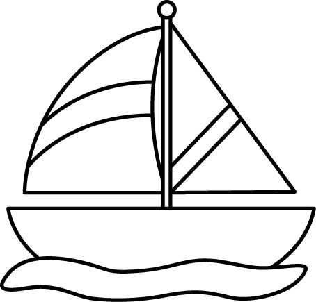 Black And White Sailboat In Water Printables Pinterest Graphics Sailboats
