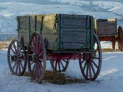 """THE OLD  """"MULE SKINNER"""" CARGO WAGONS BEAUTIFULLY REDONE"""