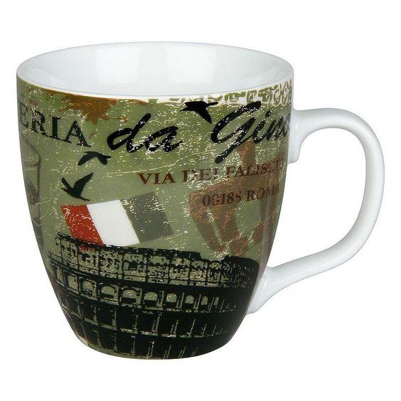 Konitz Cosmopolitan Italy 4-pc. Coffee Mug Set, Multicolor