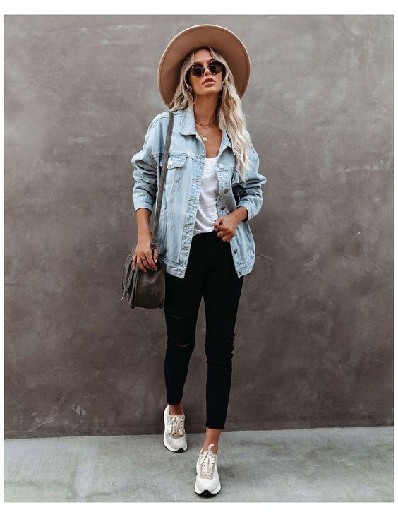 Look calça preta com jaqueta perfeitos para usar no dia a dia