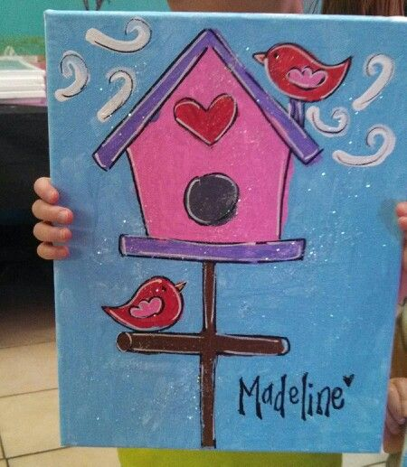 Kids canvas painting: