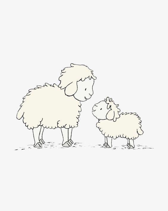 Resultado de imagen para bebe cordero para imprimir | Ilustración ...